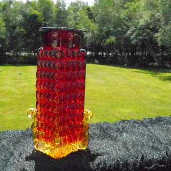 Amberina Bottle/Vase