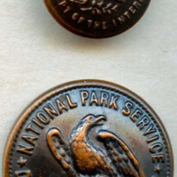 National Park Service uniform buttons - Sewing