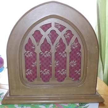 Antique Cathedral Style Speaker Cabinet