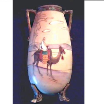 "Nippon Handled and Footed ""Desert Scene"" Vase /Circa 1911 - Asian"