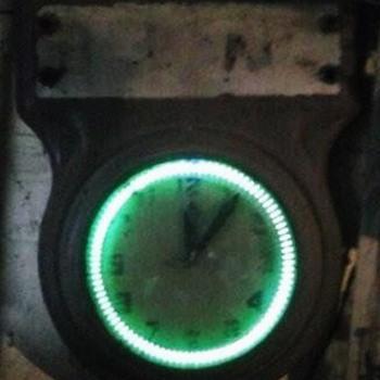 Old Neon Spinner Clock - Clocks