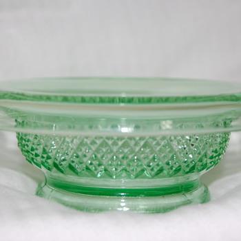 Little Green Glass Bowl - Glassware