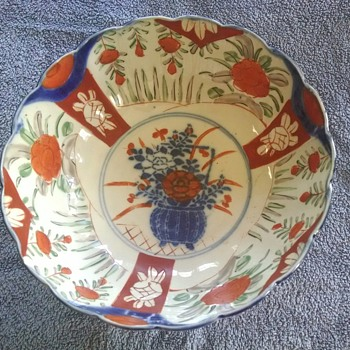 Scalloped Asian bowl