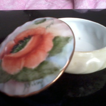 Hand Painted Trinket Dish By: A. Filey? - Pottery