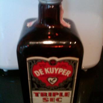 WWII Era De Kuyper Triple Sec bottle