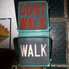 Vintage Walk, Don't walk street sign light