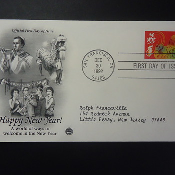 HAPPY NEW YEAR! FIRST DAY COVER