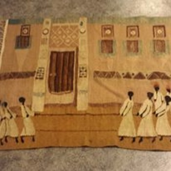 Unique Old African/Caribbean Rug