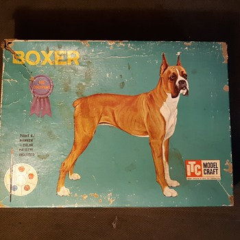 ITC Model Craft (Ideal Toys) Boxer Dog Model Late 1950s to Early 1960s - Animals
