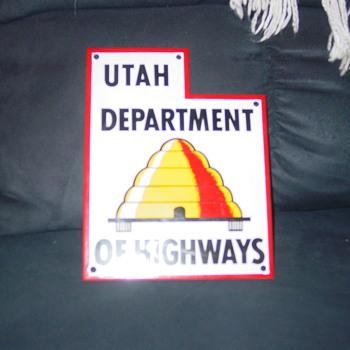 vintage utah road sign - Signs