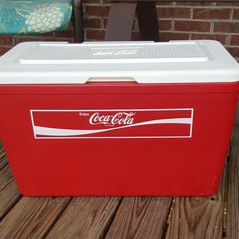 Large Vintage Plastic Coca Cola Cooler - Coca-Cola