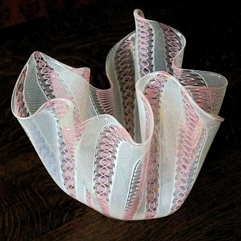 Graceful Freeform Handkerchief Glass Bowl – Murano? - Art Glass