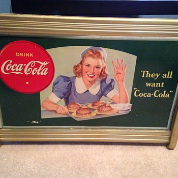 They All Want Coca-Cola - 1940's Cardboard - Coca-Cola