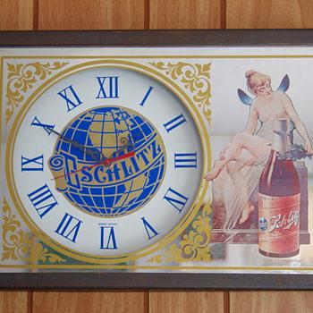 George Nathan Schlitz Clock - Breweriana