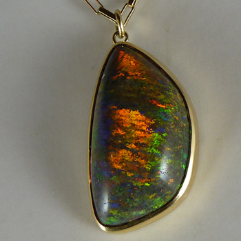 A Large Andamooka Sugar Treated Matrix Opal - Fine Jewelry