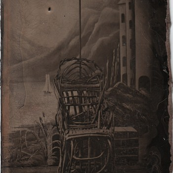Tintype Studio Tintype (The Painted Backdrop) - Photographs