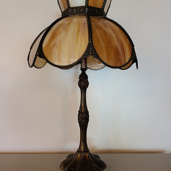 favorite slag glass lamps - Lamps