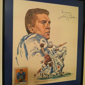 Johnny Unitas - Golden Arm print - Football