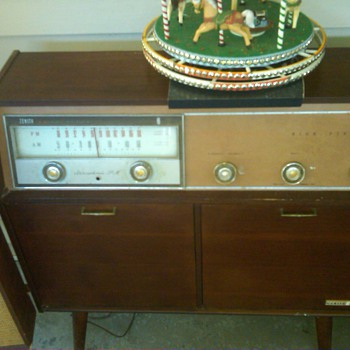 1962 zenith rhapsody console model mp500 radio/phono