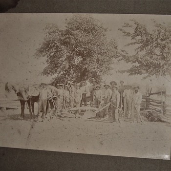 Old Farm Photo of Ploughing. - Photographs