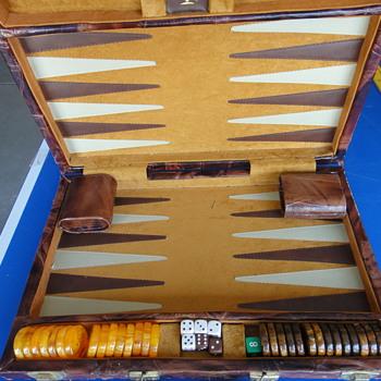 Antique backgammon board - Games