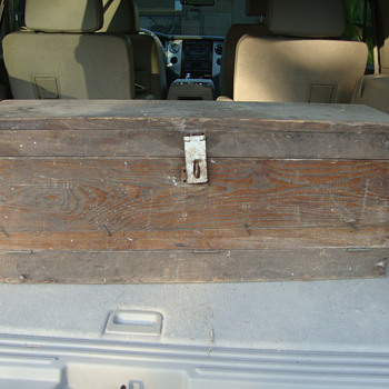 antique toolbox - cypress maybe?