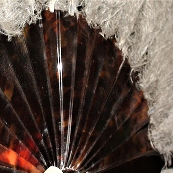 Tortoise And Ostrich Plume Fan 1910-1920 - Accessories
