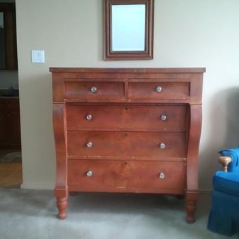 Antique Pennsylvania Dresser and Mirror - Furniture