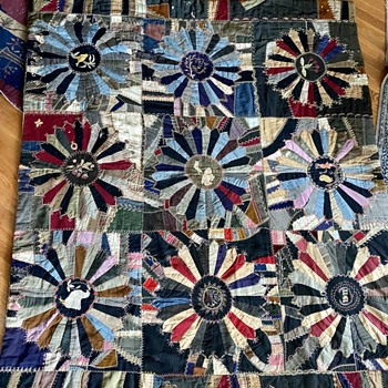 1911 Wool Crazy Quilt - Folk Art