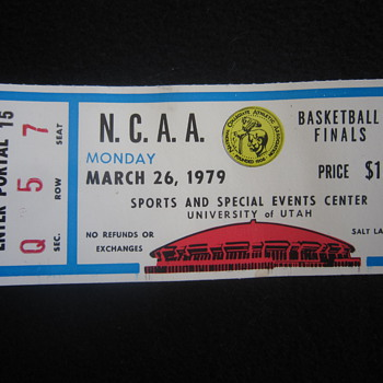 1979 Original NCAA Finals College Basketball Ticket Stub MAGIC VS BIRD Salt Lake City UT - Basketball