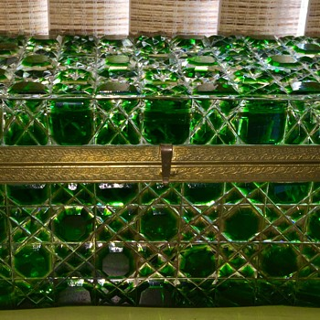 Antique glass? green jewelry box - Fine Jewelry