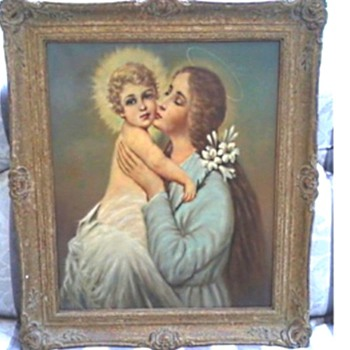 "A Likely Candidate As The Painter of My ""Madonna and Child"" /Giovan(n)i Maresca (1850-1920)  - Fine Art"