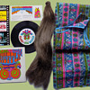 "1960s Clark Gum Shuffle Psychedelic Advertising Party Kit w ""Paper"" Dress."