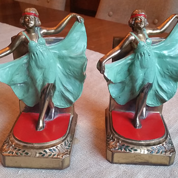 Gorgeous Bronze Bookends!  - Art Deco