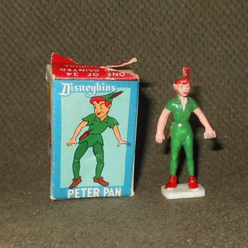 Marx Disneykins Peter Pan With Box 1961 - Advertising