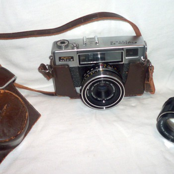 Fujica 35ML camera, with its leather case