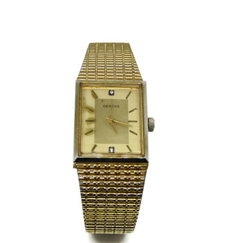 Gold and Diamond Geneva Watch - Wristwatches