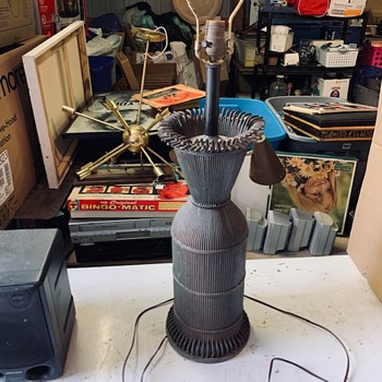 Heavy Lamps Made With Brass Tubes Industrial Maker Unknown - Lamps
