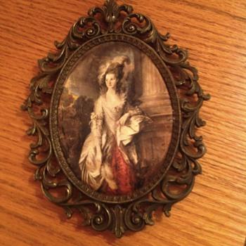 Silk portrait - Art Nouveau