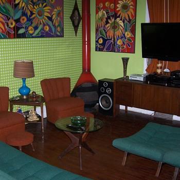 My Vintage Mid Century Furniture Living Room Paintings Bro. Mel Meyers - Furniture