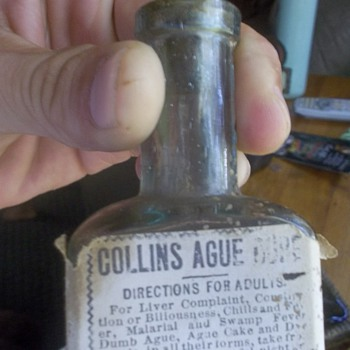 collins ague cure, anyone know the rarity or value of somthing like this? - Bottles