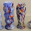 A range of pre war Japanese glass vases