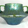 "Loetz ""Crete Papillon"" Bowl with Handles. PN-II 261. (Com. 346/388) Circa 1900. 5.5"" tall"