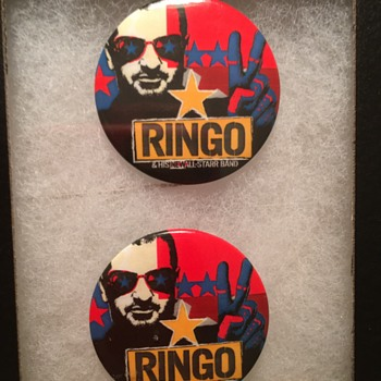 Ringo's personally owned tour pins-2001 - Medals Pins and Badges