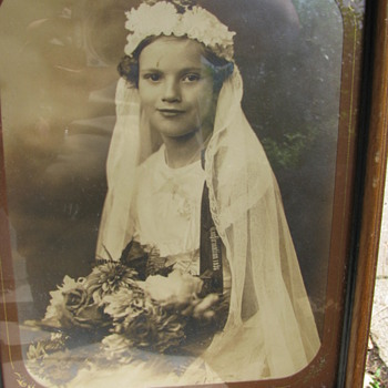 My Mother in Law at age ten on her confirmation! - Photographs