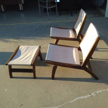 Folding canvas lawn chairs - Furniture