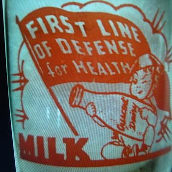 CRESCENT DAIRY...PASO ROBLES CALIFORNIA....WAR SLOGAN MILK BOTTLE - Bottles