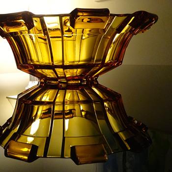 DEPRESSION GLASS BOWL - Art Deco