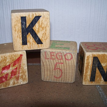 Early Lego Blocks 1940s - Toys