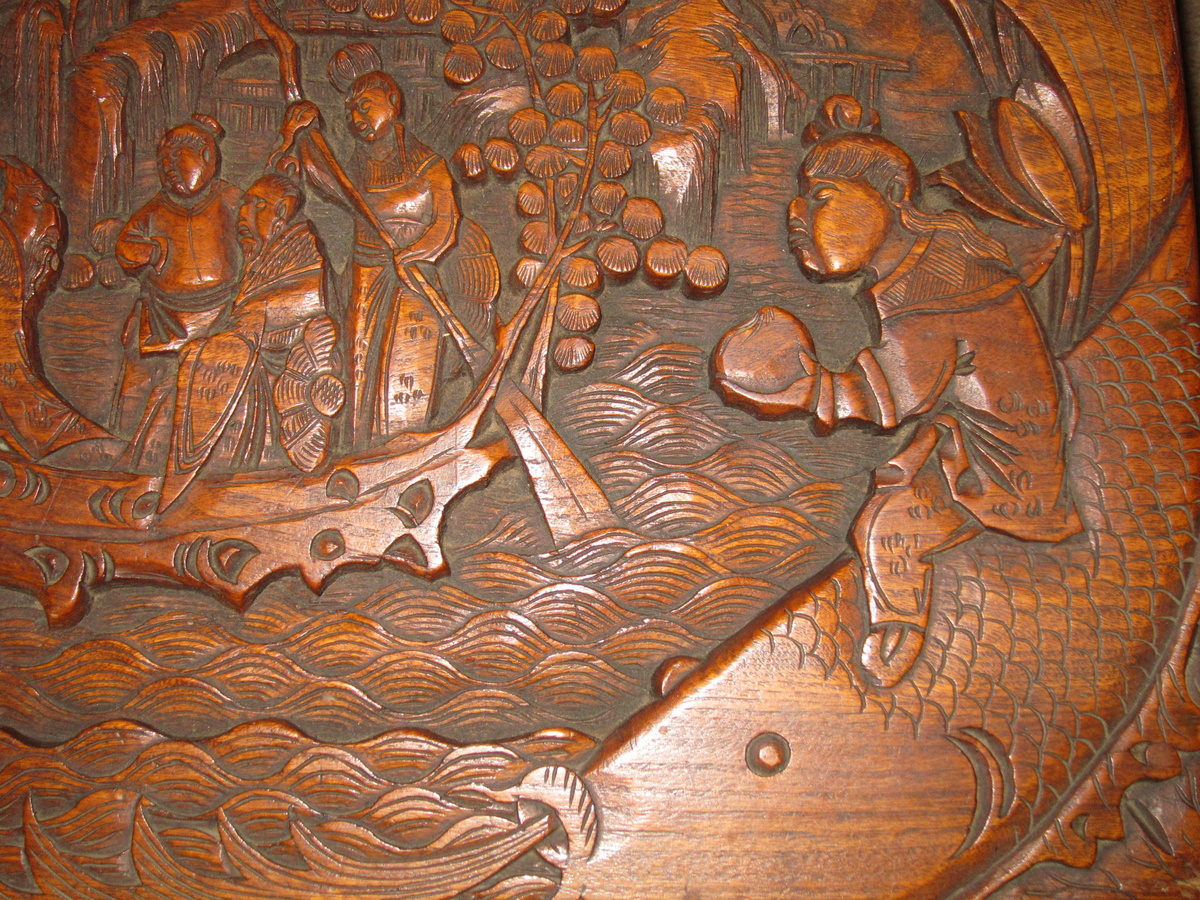 Cedar ? chest asian carving collectors weekly